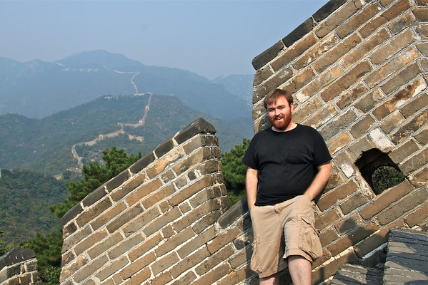 Mike at the Great Wall of China