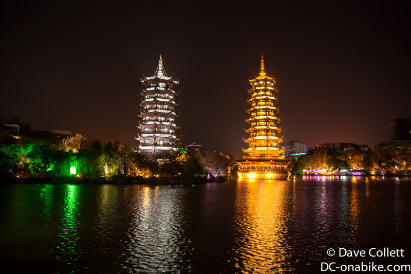Sun and Moon Pagoda in Guilin