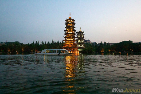 Lake in Guilin city
