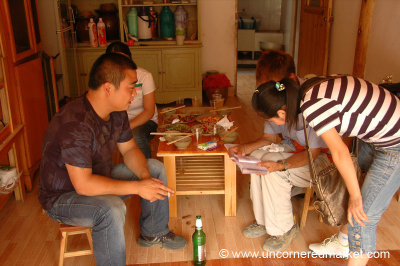 Chinese Lunch, Chinese Friends - Xijiang, China