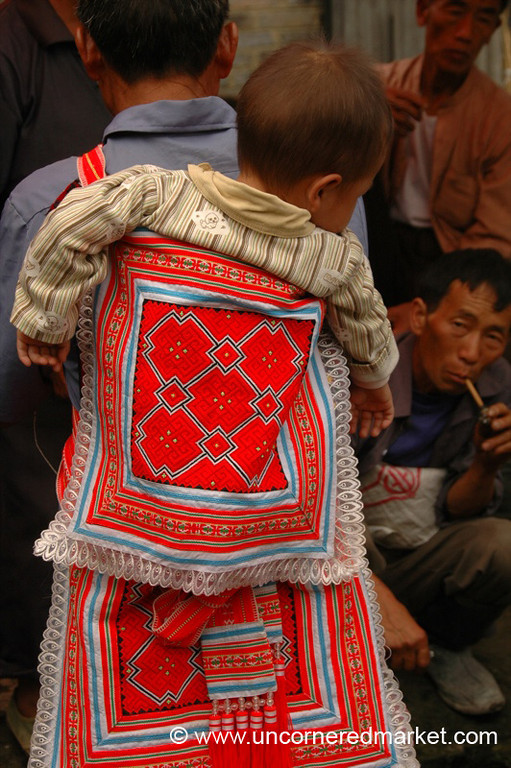 Embroidered Baby Sling - Guizhou Province, China