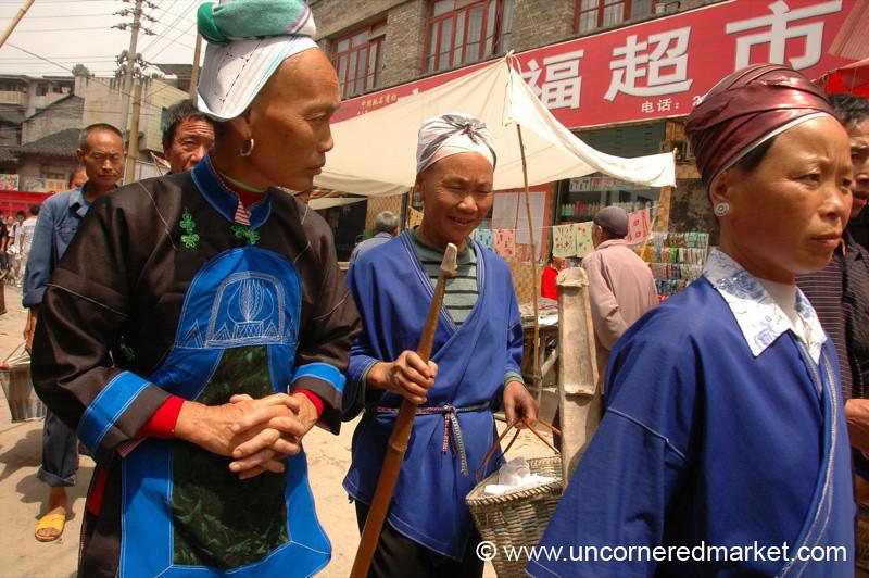 Miao and Gejia Women - Guizhou Province, China