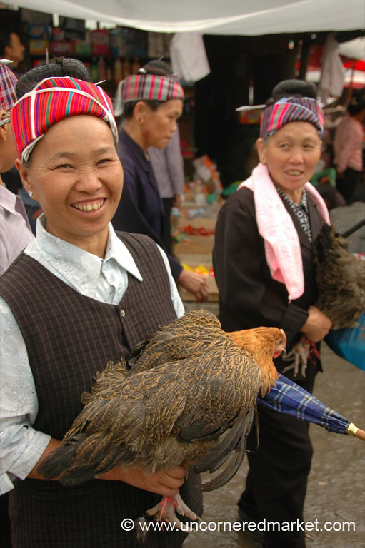 Miao Woman with Chicken - Guizhou Province, China