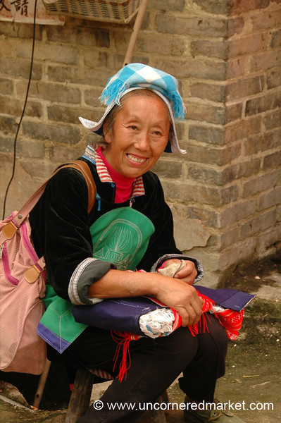 Smiling Gejia Woman - Guizhou Province, China