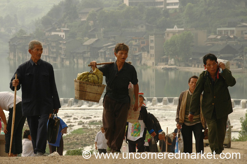 Men from Chong'an Market - Guizhou Province, China