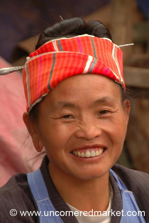 Friendly Miao Woman - Guizhou Province, China
