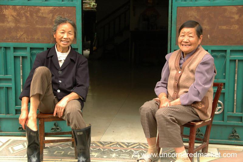 Cheerful Village Ladies - Guizhou Province, China