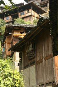 Houses in Xijiang village, the largest Miao village with a population of ~5,000