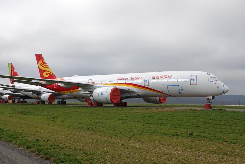 """B-30DP Airbus A350-941 """"Hainan Airlines"""" c/n 355 Tarbes-Lourdes/LFBT/LDE 27-02-21"""