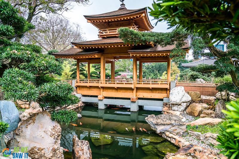 Pavilion Bridge and Blue Pond