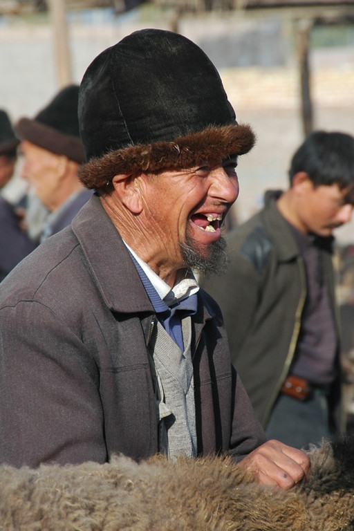 Uighur Man Laughing - Kashgar, China
