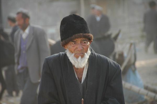 Uighur Elderly Man - Kashgar, China