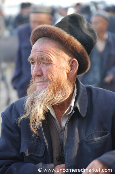 Uighur Elder at the Market - Kashgar, China
