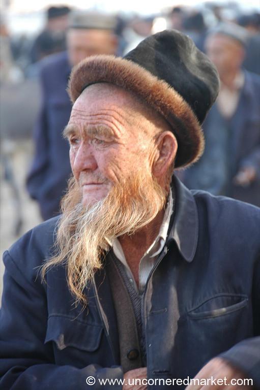 Uighur Elder at the Market - Kashgar, China