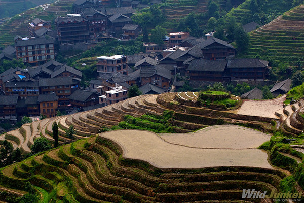 Ping An town amidst the rice terraces