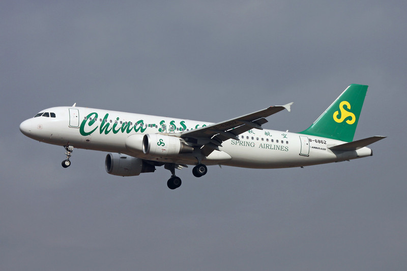 """B-6862 Airbus A320-214 """"Spring Airlines"""" c/n 4983 Xi'an/ZLXY/XIY 12-11-12"""