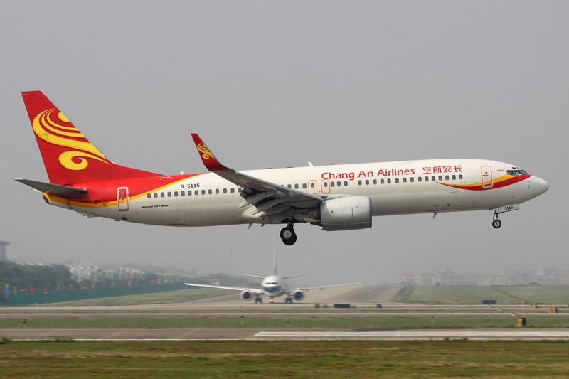 "B-5115 Boeing 737-8FH ""Chang An Airlines"" c/n 29640 Guangzhou/ZGGG/CAN 15-11-12"