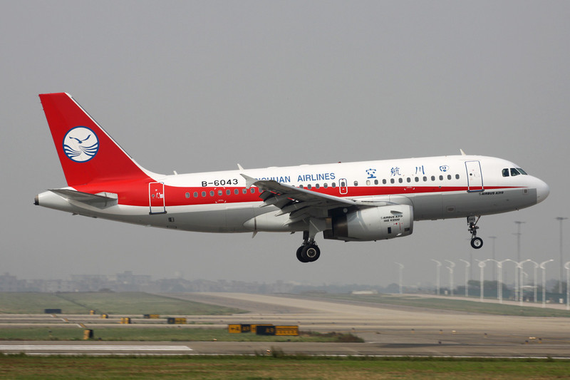 "B-6043 Airbus A319-133 ""Sichuan Airlines"" c/n 2313 Guangzhou/ZGGG/CAN 15-11-12"