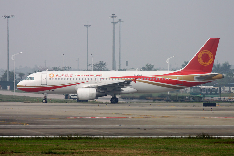 "B-6907 Airbus A320-214 ""Chengdu Airlines"" c/n 5003 Guangzhou/ZGGG/CAN 14-11-12"