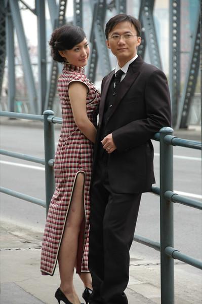 Chinese Couple on a Photo Shoot - Shanghai, China
