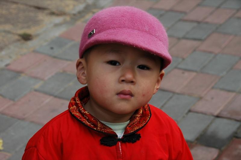 Serious Little Chinese Boy - Qingdao, China