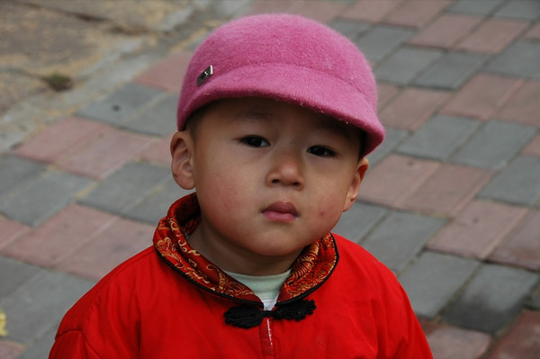 Serious Little Chinese Boy - Qingdao, China
