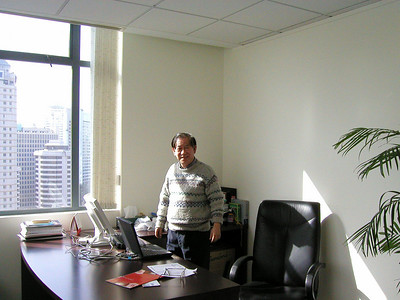 Dan in his Shanghai office , 2002 Shanghai Atmosphere