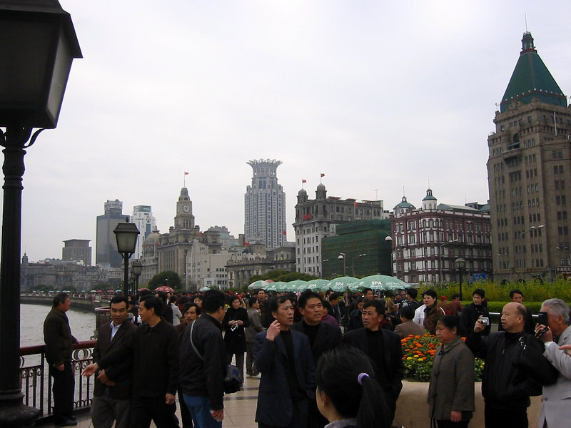 Sunday on the Bund. Shanghai Atmosphere