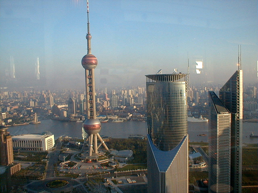 From Jin Mai Tower, Hyatt Hotel, Shanghai, 2004.