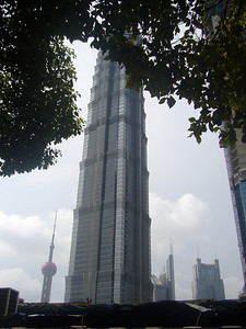 Jin Mao Tower ( and Hyatt Hotel from 52nd floor)