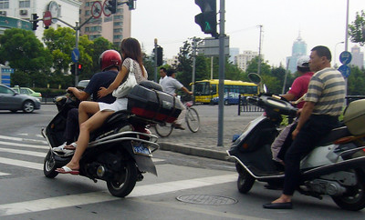 Spectacular scooter in Pudong, 2006