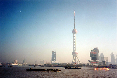 same scene of Pudong, Huangpu River, as the previous photo from the Bund, but taken Dec 14 1996, an amazing change has occured there.