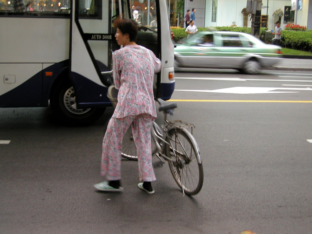 Pajamas and bicycles go well