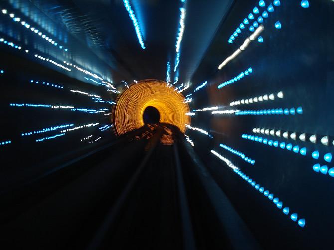 Bund Tourist Tunnel Lights