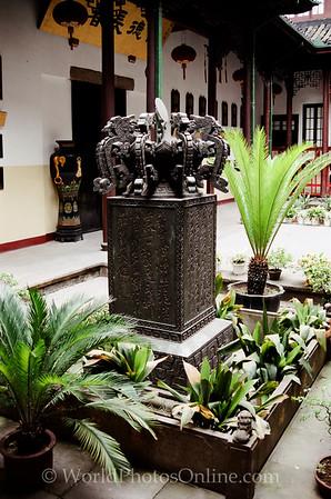 Shanghai - Jade Buddha Temple - Garden Ornamentation