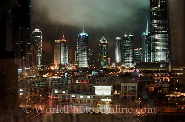 Shanghai - View from Room at night