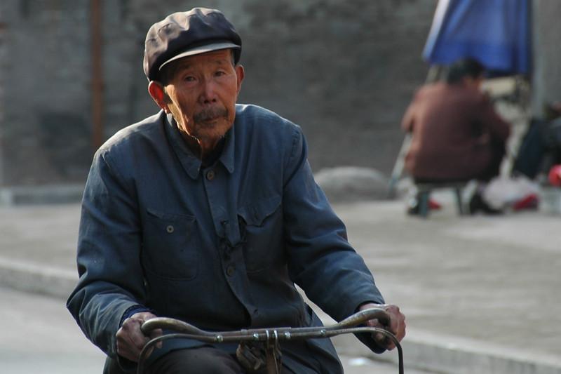 Old Man on a Bike - Pingyao, China
