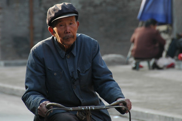 Old Man on a Bike - Pingyao, China