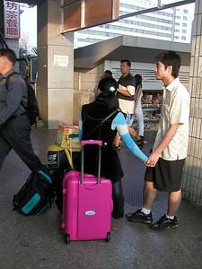 Shenzhen train station (2004) saying goodbye!