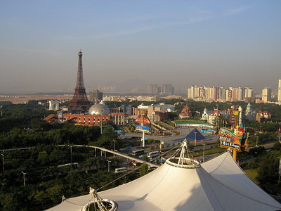 The Windows of the World theme park in Shenzhen from the Crowne PLaza Hotel, in 2002