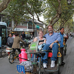 In a Bicycle Rickshaw – Suzhou, China – Photo
