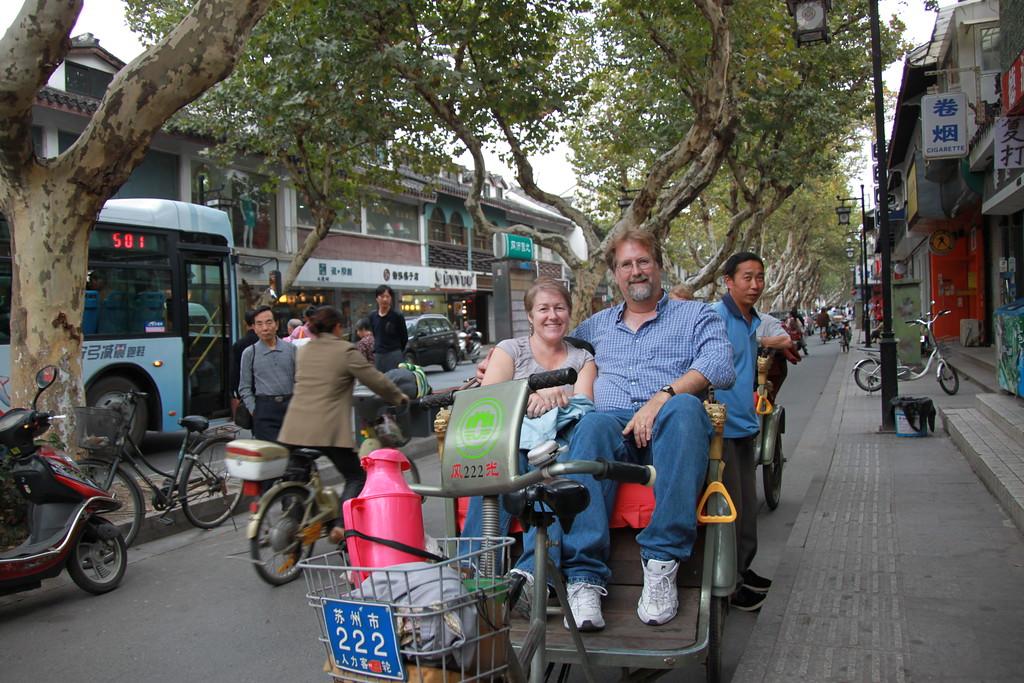 In a Bicycle Rickshaw - Suzhou, China - Daily Photo