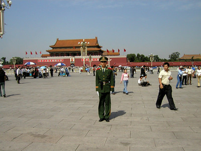 Tiananmen square with Forbidden City in background, Sept 2004