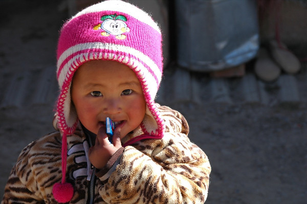 Cute Tibetan Child - Xiahe, China