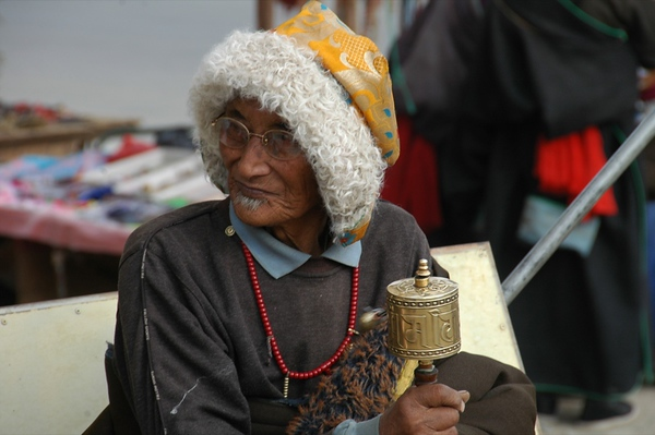 Old Tibetan Pilgrim - Xiahe, China