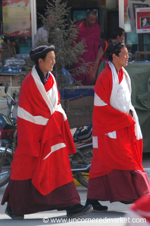 Ngakpas in Red Robes - Xiahe, China
