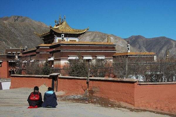 Tibetan Pilgrims Outside Labrang Monastery - Xiahe, China