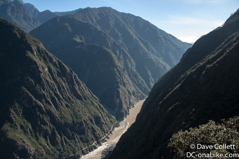 Valley far below