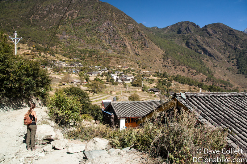 Village high in the hills