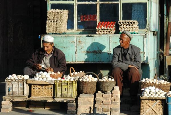 Eggs, Eggs and More Eggs - Kashgar, China